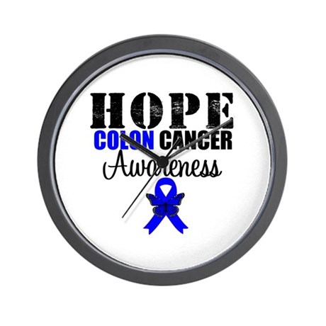 Colon Cancer Hope Wall Clock
