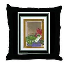 Frog Maiden on Throw Pillow