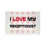 I Love My Receptionist Rectangle Magnet