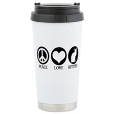 PEACE LOVE KITTIES Ceramic Travel Mug