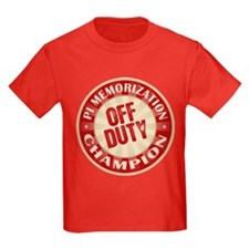 Off Duty Pi Memorization Champion T