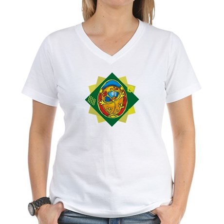 Pretty Easter Egg Women's V-Neck T-Shirt