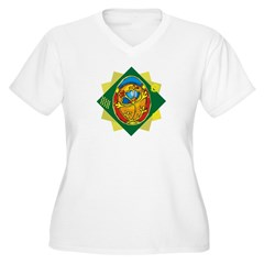 Pretty Easter Egg Women's Plus Size V-Neck T-Shirt