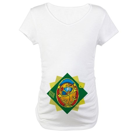 Pretty Easter Egg Maternity T-Shirt