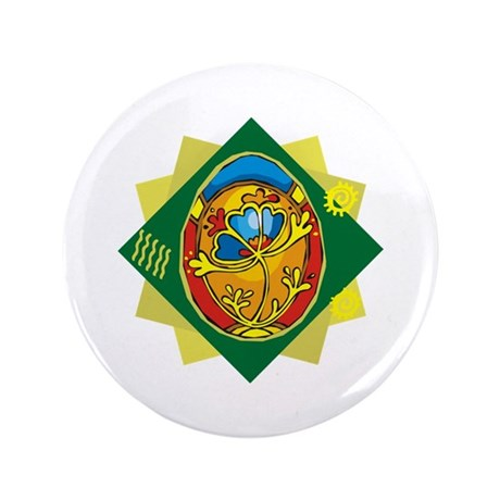 "Pretty Easter Egg 3.5"" Button (100 pack)"