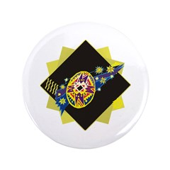 "Dramatic Easter Egg 3.5"" Button (100 pack)"