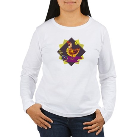 Funny Rooster Easter Women's Long Sleeve T-Shirt