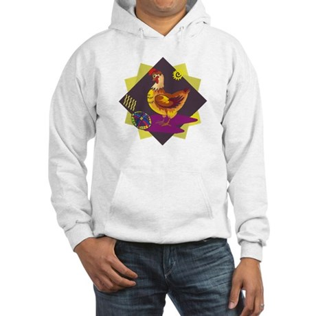Funny Rooster Easter Hooded Sweatshirt