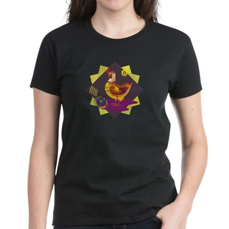 Funny Rooster Easter Women's Dark T-Shirt