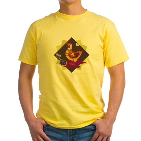 Funny Rooster Easter Yellow T-Shirt