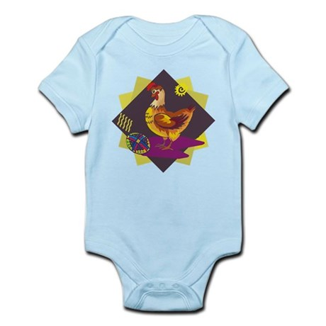 Funny Rooster Easter Infant Bodysuit