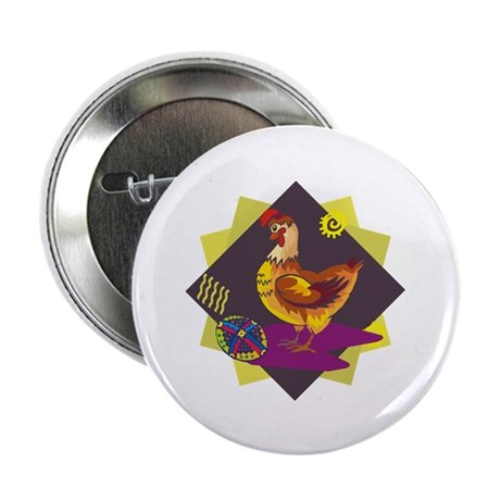 "Funny Rooster Easter 2.25"" Button (100 pack)"
