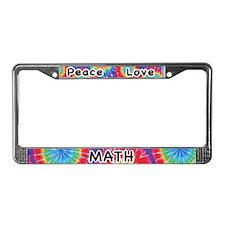 Peace Love Math License Plate Frame