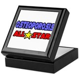 """Osteoporosis All Star"" Keepsake Box"