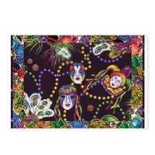 Unique Mardi gras Postcards (Package of 8)