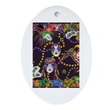 Cute Fat tuesday Oval Ornament