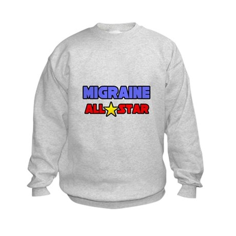 """Migraine All Star"" Kids Sweatshirt"