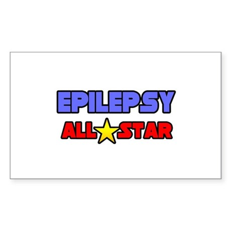 """Epilepsy All Star"" Rectangle Sticker"