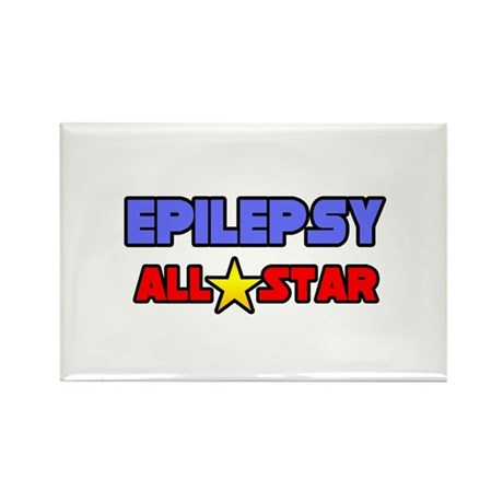 """Epilepsy All Star"" Rectangle Magnet (10 pack)"