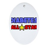 """Diabetes All Star"" Oval Ornament"