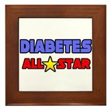 """Diabetes All Star"" Framed Tile"