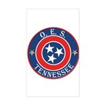 Tennessee OES Rectangle Sticker
