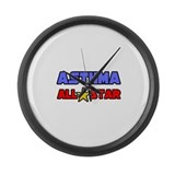 """Asthma All Star"" Large Wall Clock"
