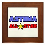 """Asthma All Star"" Framed Tile"