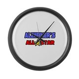 &quot;Alzheimer's All Star&quot; Large Wall Clock