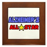 """Alzheimer's All Star"" Framed Tile"