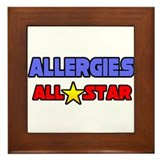 """Allergies All Star"" Framed Tile"
