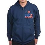 God Bless the USA Zip Hoodie (dark)