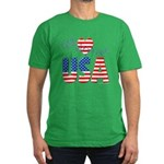 God Bless the USA Men's Fitted T-Shirt (dark)
