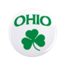 "Ohio Irish Shamrock 3.5"" Button"