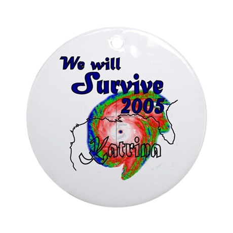 We Will Survive Christmas Ornament (Round)