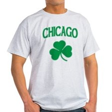 Chicago Irish Shamrock Light T-Shirt
