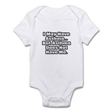 """""""Asthma Fighter Quote"""" Infant Bodysuit"""