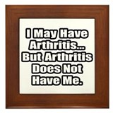 """Arthritis Fighter Quote"" Framed Tile"
