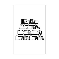 """Alzheimer's Fighter Quote"" Mini Poster Print"