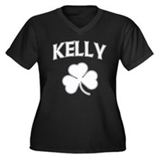 Kelly Irish Women's Plus Size V-Neck Dark T-Shirt