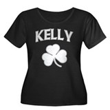 Kelly Irish Women's Plus Size Scoop Neck Dark T-Sh