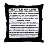 """Man in the Arena""  Throw Pillow"