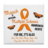 MS Awareness Month 2.1 Tile Coaster