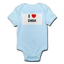 I LOVE ZARIA Infant Creeper