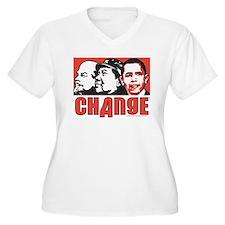 Lenin Mao anti Obama Change T-Shirt