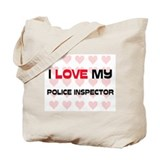 I Love My Police Inspector Tote Bag