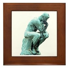 The Thinker Framed Tile
