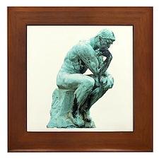 The Thinker Framed Tile