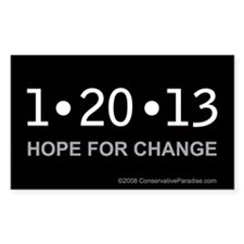 (50) 1-20-13 Hope for Change anti Obama stickers