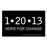 1-20-13 Hope for Change anti Obama bumper sticker